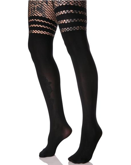 Get Faux Thigh-High Tights