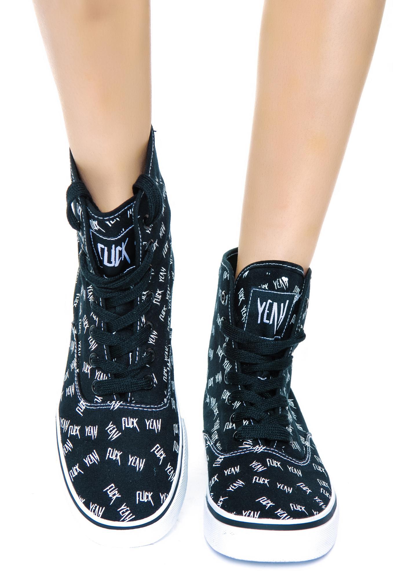 Eff Yeah Hi Top Sneakers