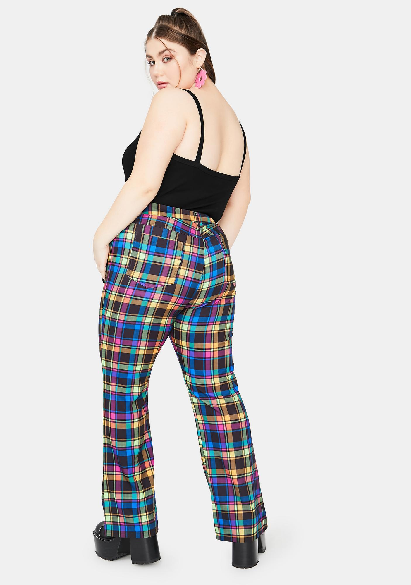 dELiA*s by Dolls Kill Get Into The Groove Plaid Pants