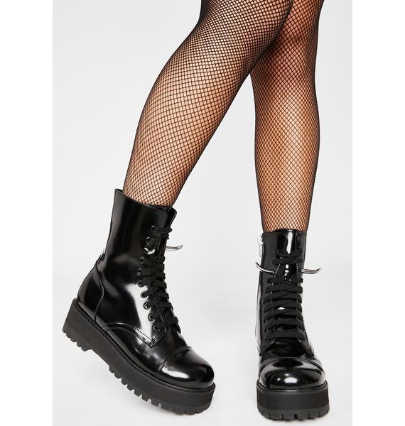 HOROSCOPEZ Shy Devil Horned Boots