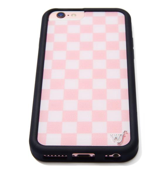 Wildflower Pink Checks iPhone Case