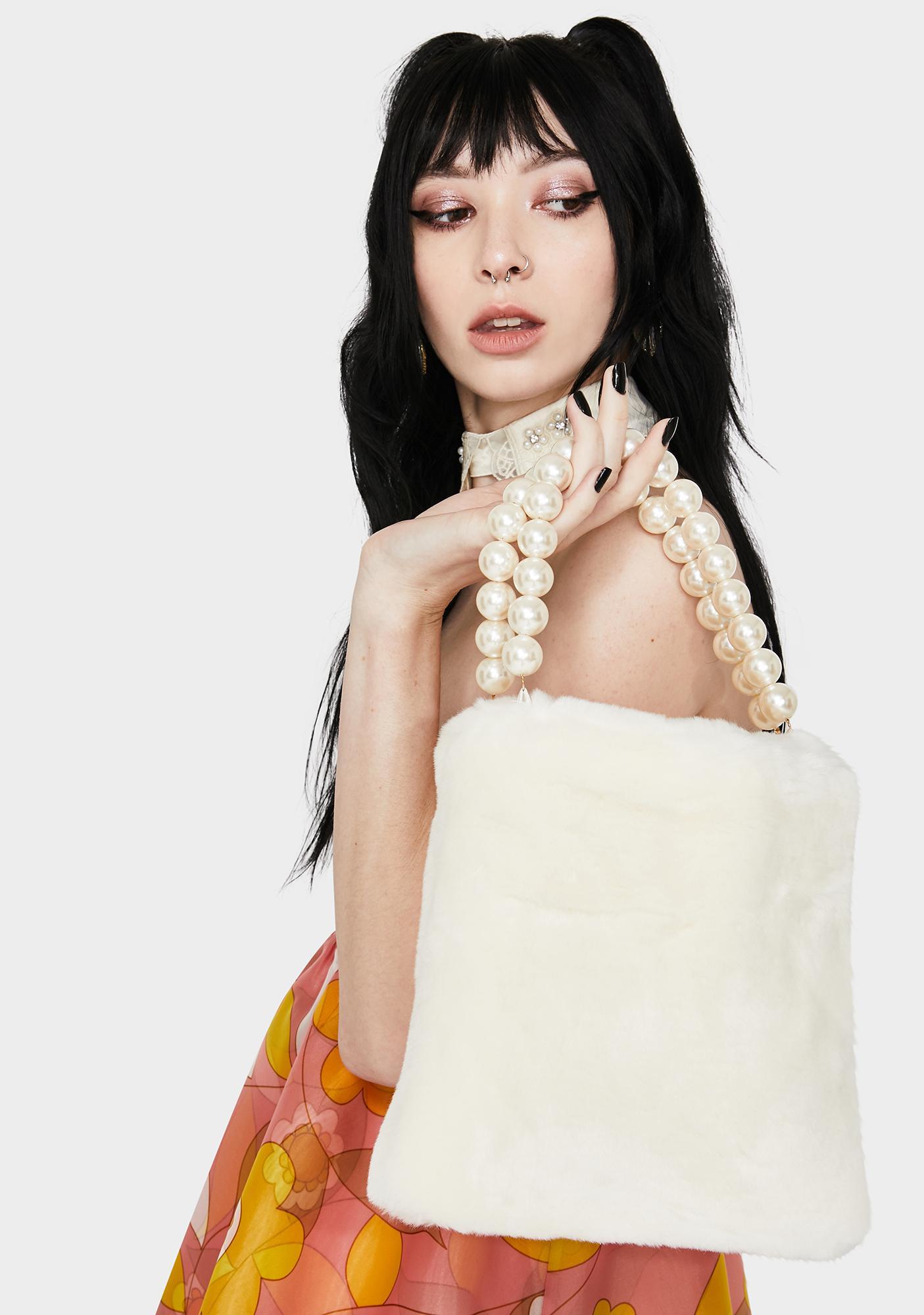 Cloud Hunter Pearl Faux Fur Handbag