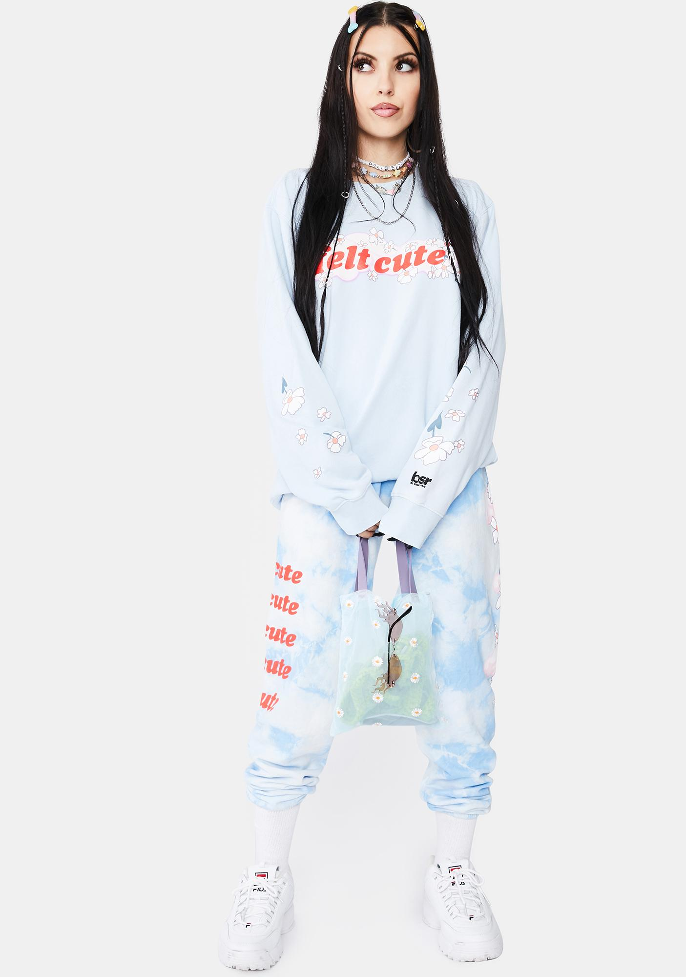 By Samii Ryan Felt Cute Tie Dye Sweats