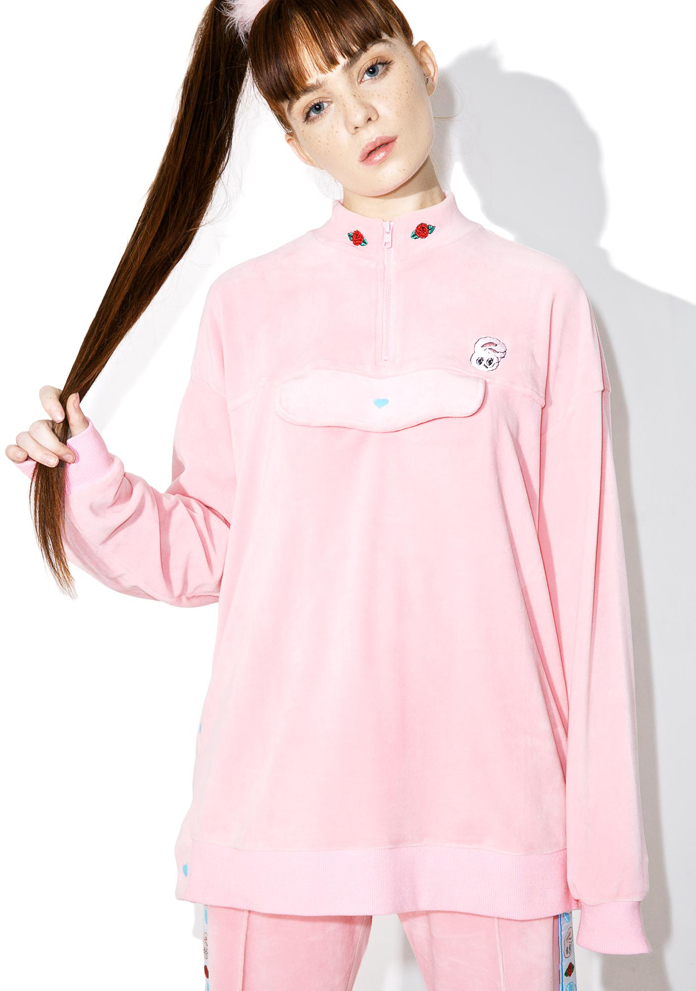 Lazy Oaf Esther Loves Oaf Heart Popper Sweatshirt