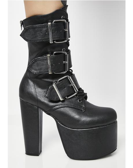 Elvira Buckle Boots