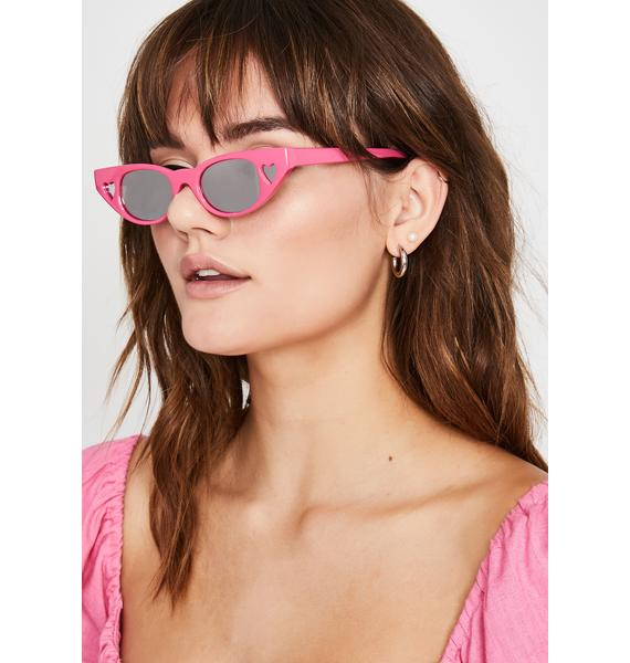 Candy Crazy Love Heart Sunglasses
