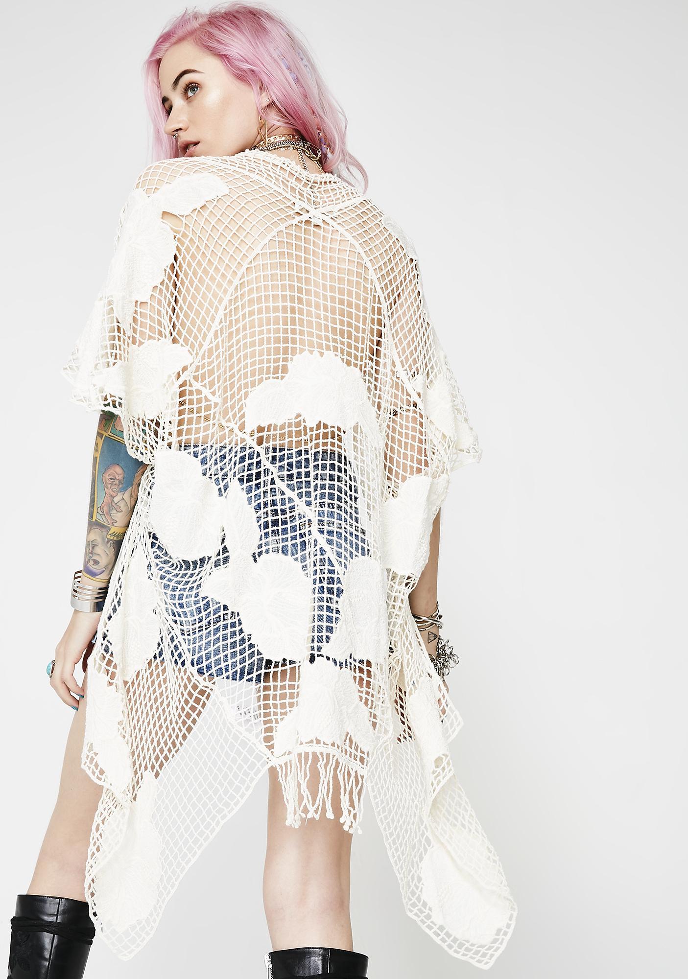 Follow The Sun Crochet Kimono