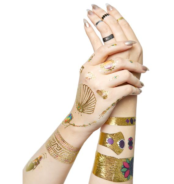 Crown Jewels Temporary Tattoos