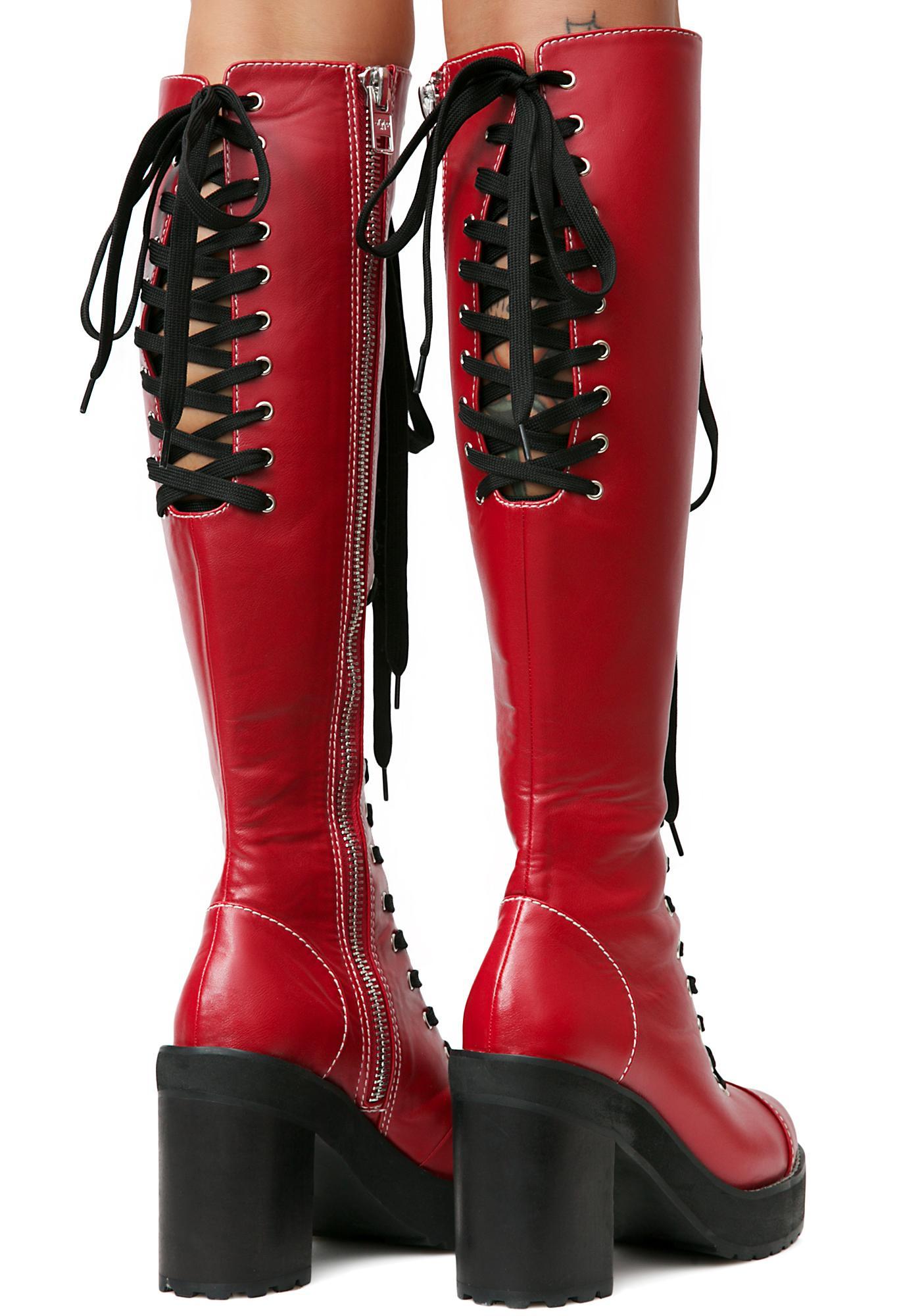 Current Mood Victoria Lacing Boots