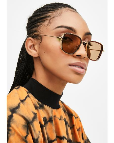 Amber Hit This Grind Square Sunglasses