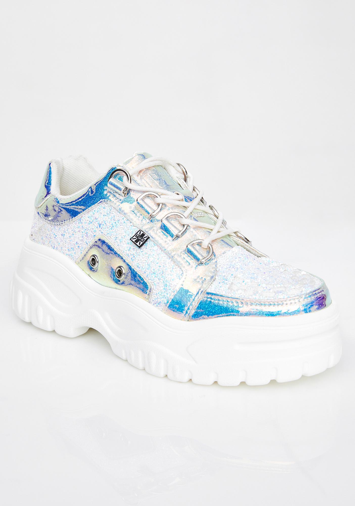 T.U.K. Ice Glitter Wave Platform Creeper Sneaker