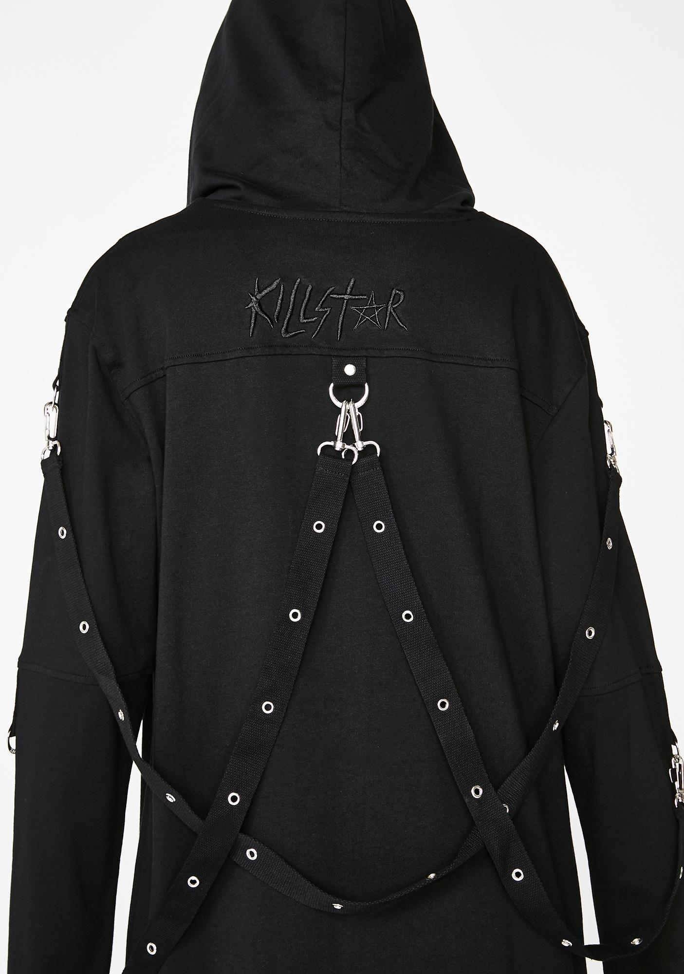 Killstar Twisted Zip Up Hoodie