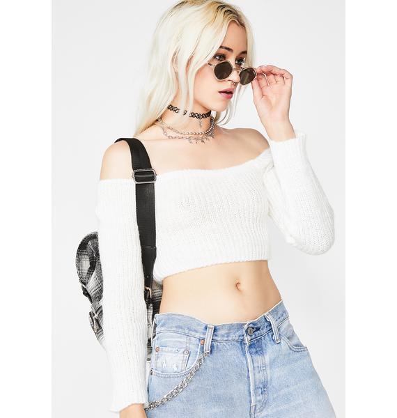Boo HMU Cropped Sweater