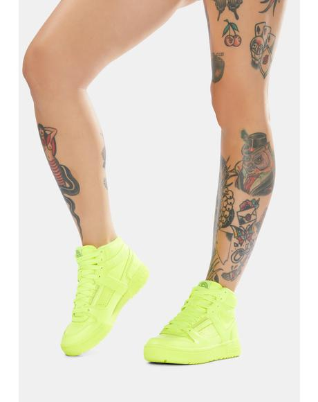 LA Gear Neon Yellow Sneakers
