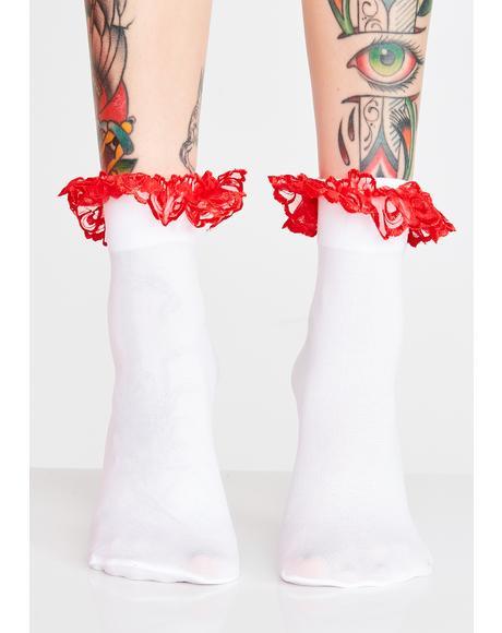 Blushin' Ruffle Socks