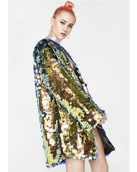 Hypnotic Sequin Kimono