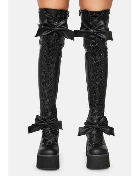 Gothic Princess Thigh High Boots