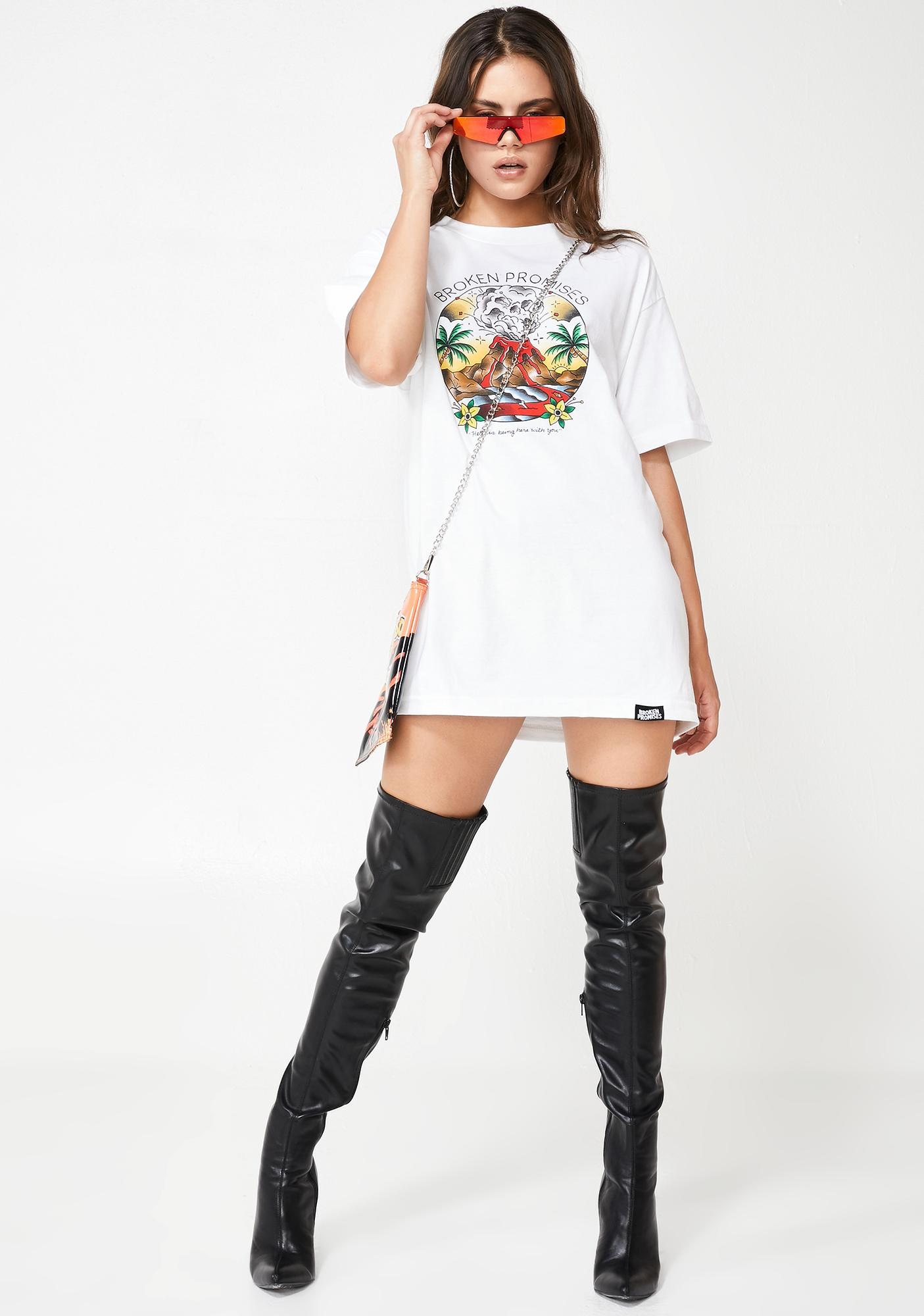 BROKEN PROMISES CO Here With You Graphic Tee