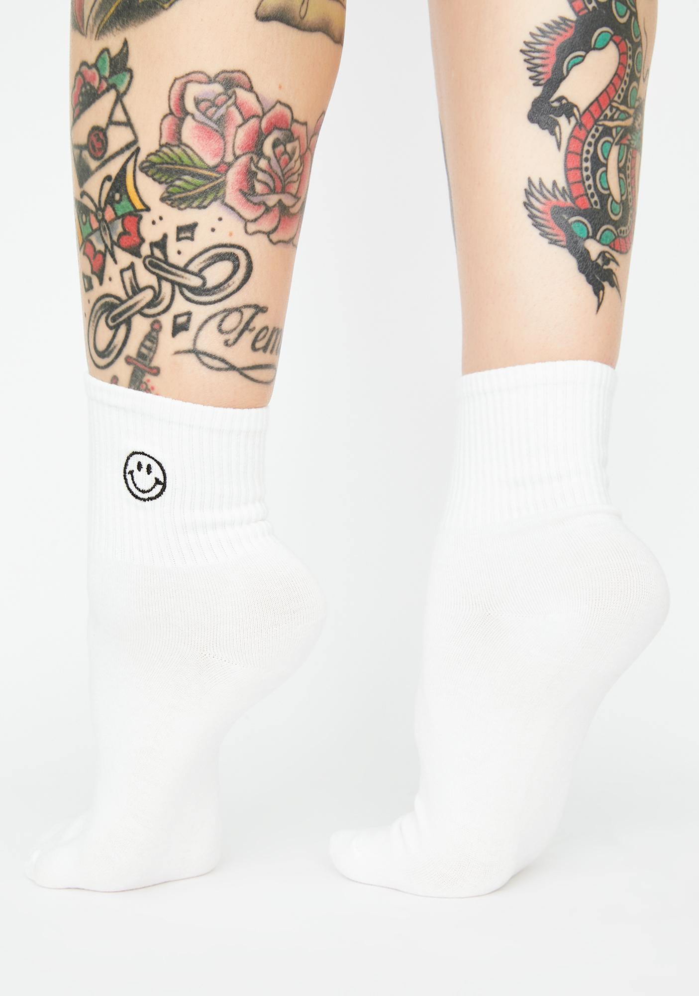 Pure Always Upbeat Smiley Face Socks