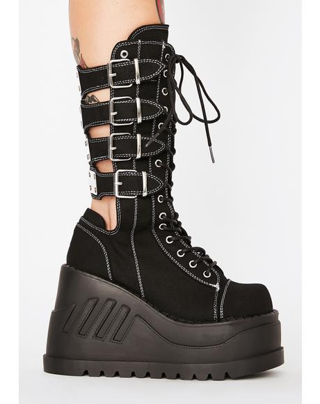 Stomp High Buckle Boots