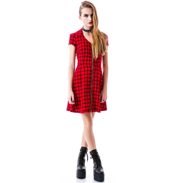 Sourpuss Clothing Derby Til Death Dress