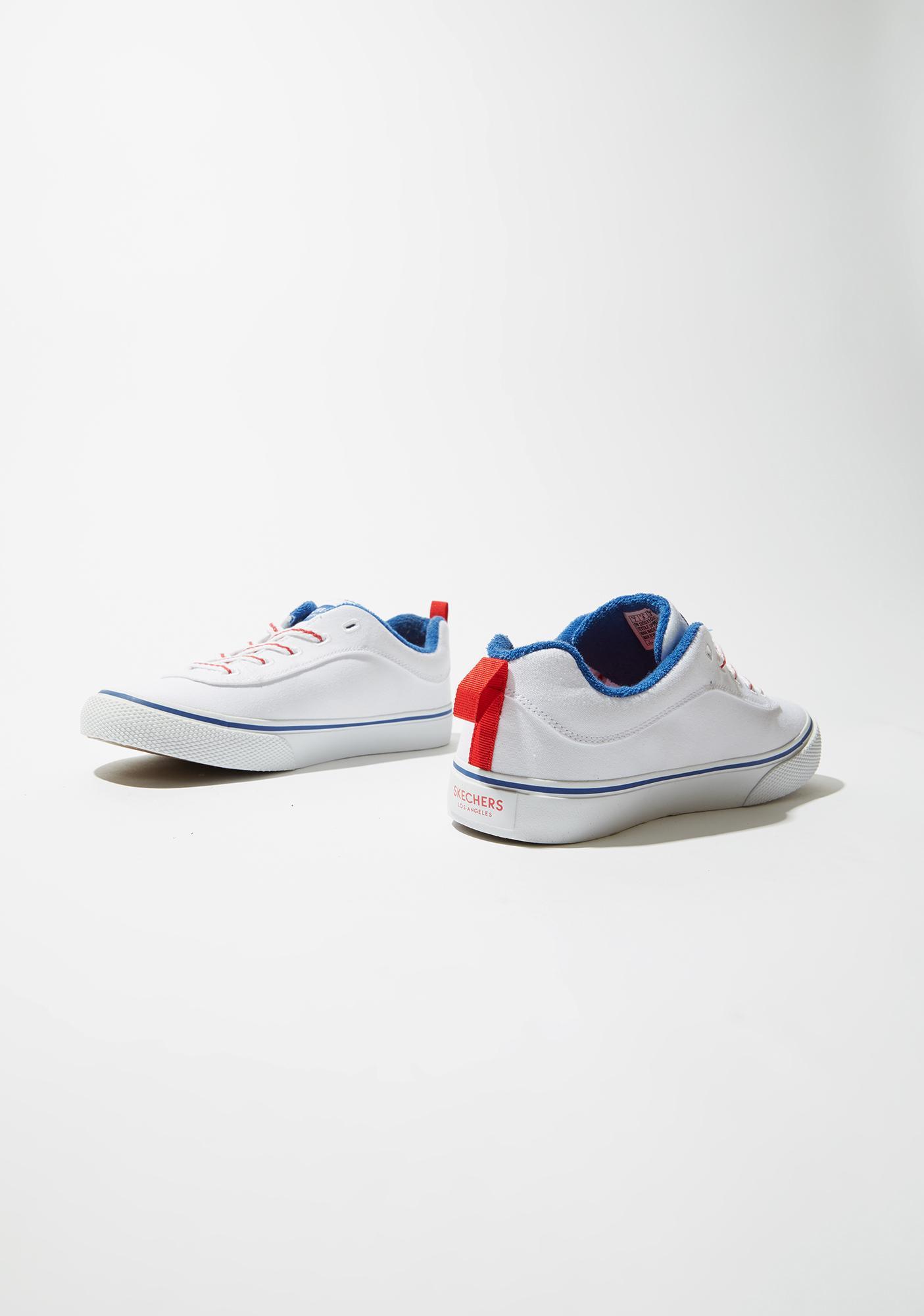 Skechers White V'Lites Stitch N Stride Sneakers