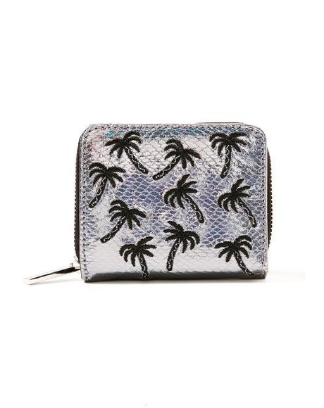 Palm Shimmer Mini Purse