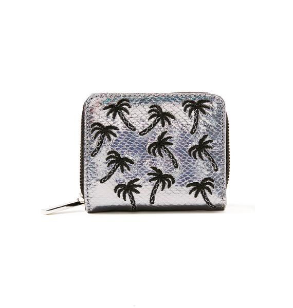 Skinnydip Palm Shimmer Mini Purse