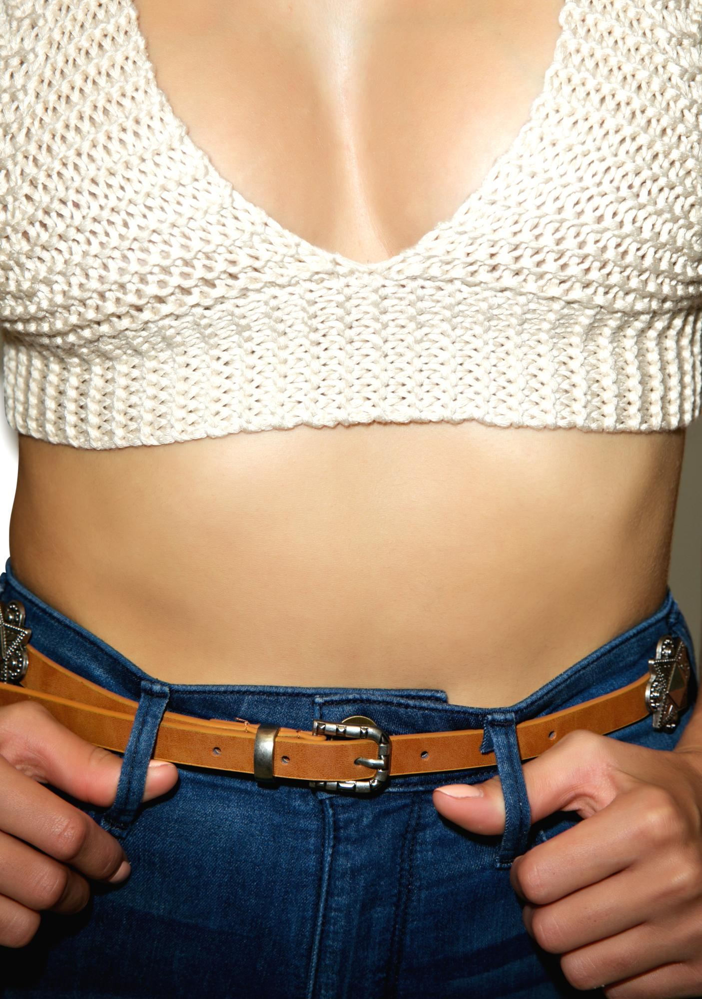Tanned Way Out West Wrap Belt