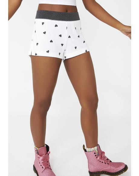 Falling Hearts Britney Shorts