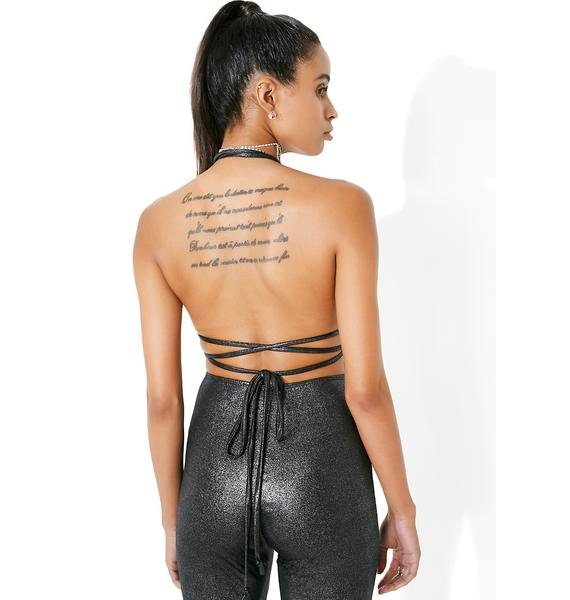 Falling Star Metallic Bodysuit
