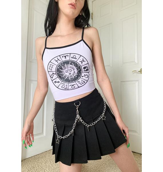 HOROSCOPEZ Wishful Thinking Pleated Skirt