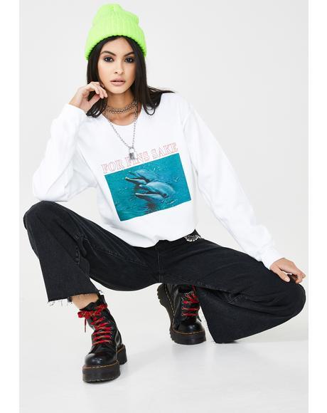 For Fins Sake Graphic Sweatshirt