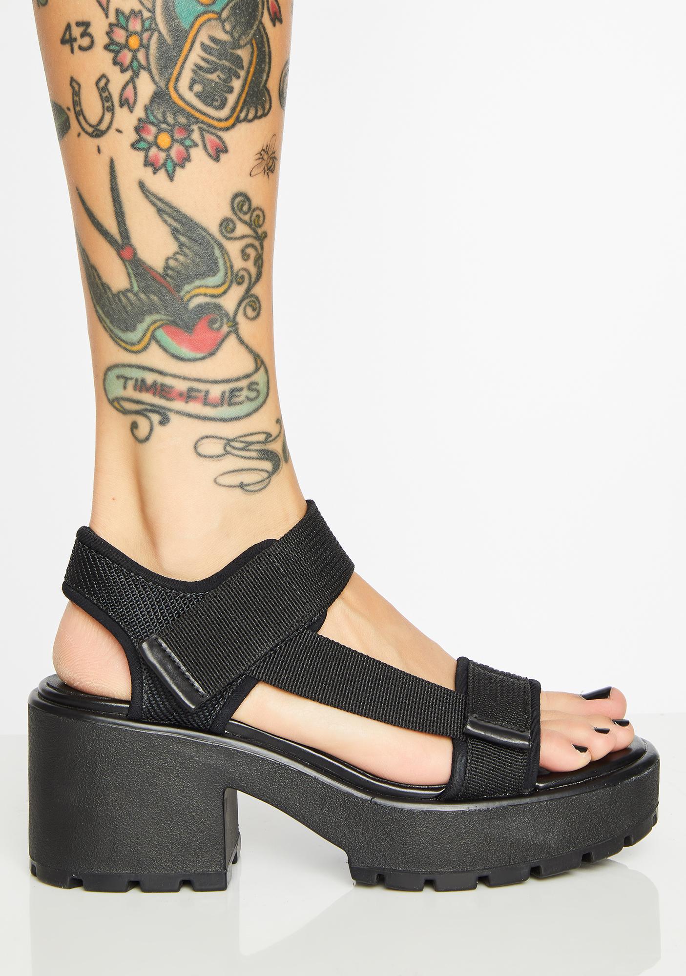 df5d243219d Dioon Leather Platform Sandals