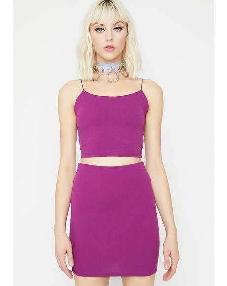 Purp Cutie Duty Skirt Set