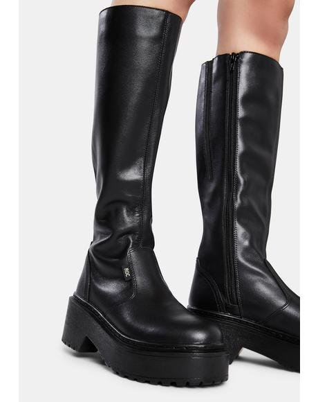 Troupe Leather Knee High Boots