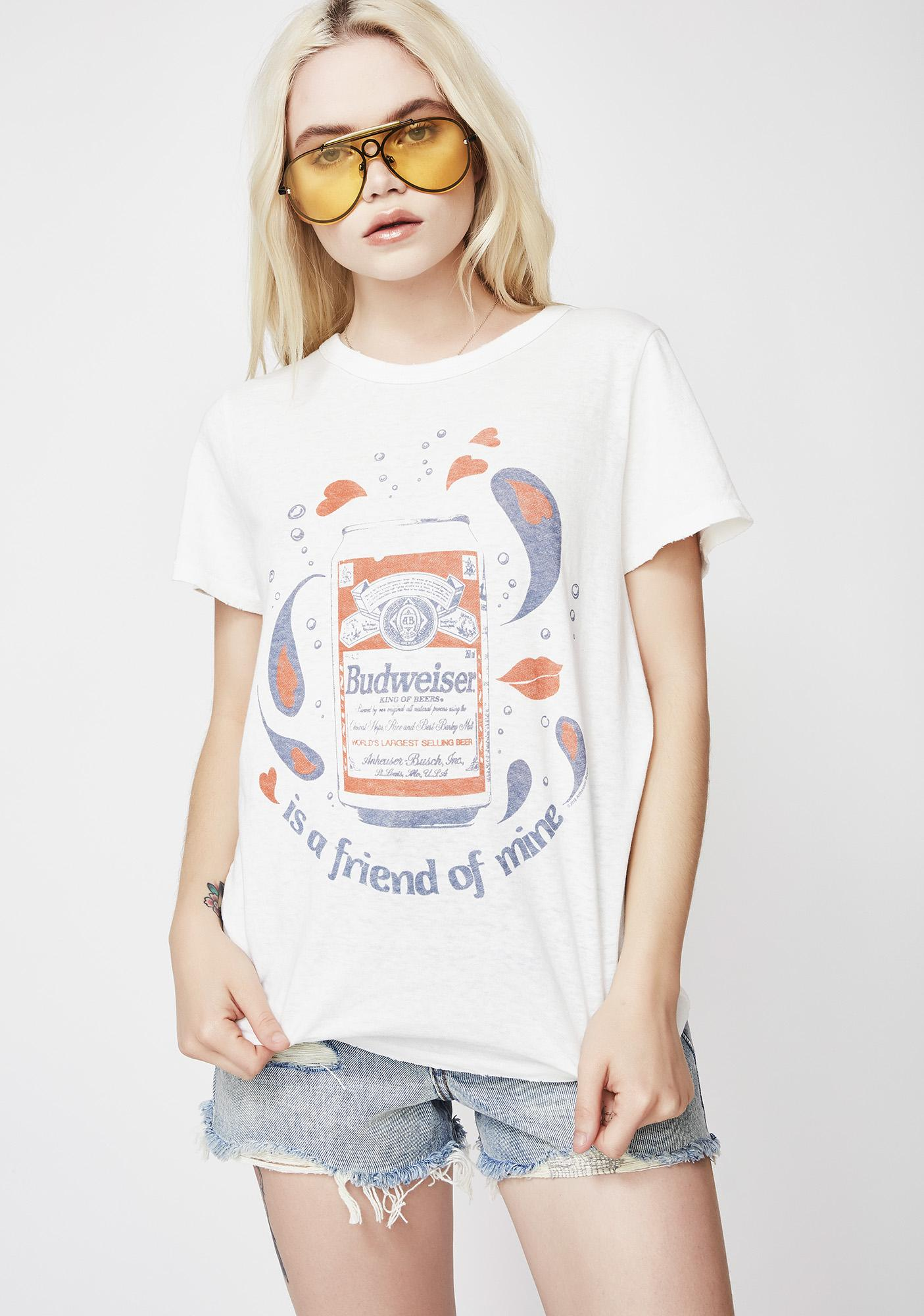 Junk Food Clothing Budweiser Is A Friend Of Mine Tee