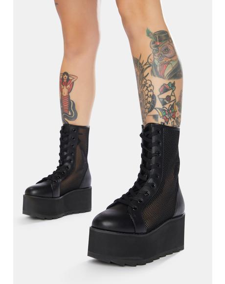 Bloq Mesh Platform Boots