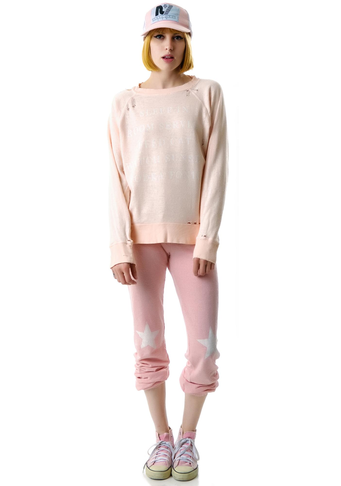 Wildfox Couture Every Day Destroyed Sweater