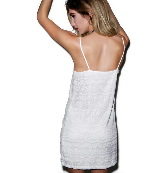 Motel Slip Eyelet Lace Dress
