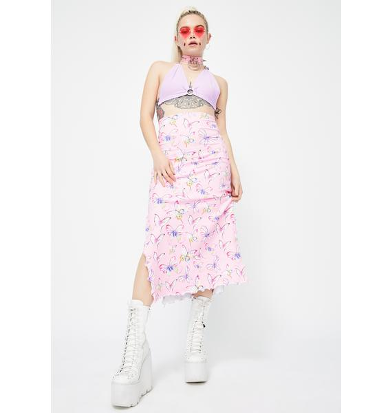 Rheabfunky Ashley Butterfly Midi Skirt