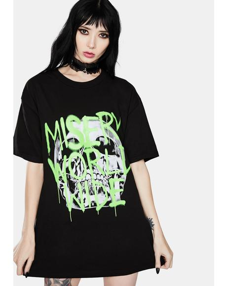 Spray Skull Graphic Tee