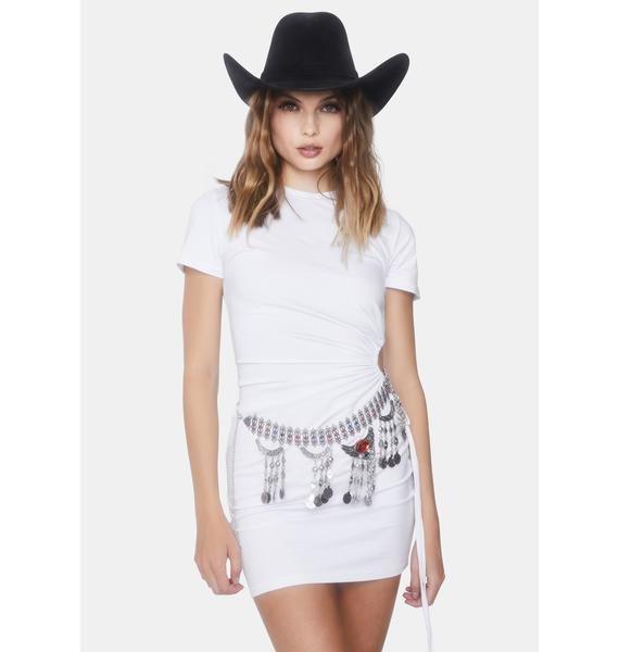 Twisted Gem Fringe Waist Belt