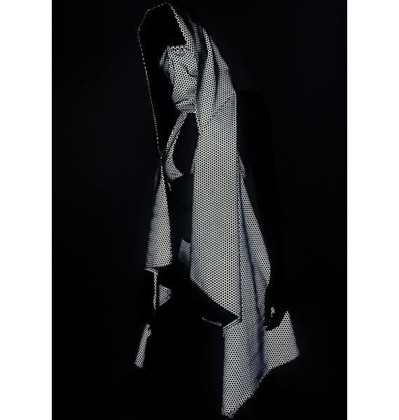 The Lyte Couture Hexx Reflective Hooded Cloak