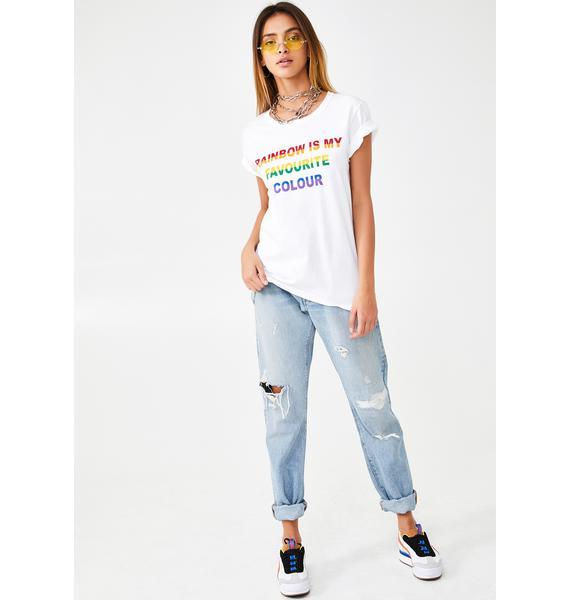 Daisy Street Rainbow Is My Favorite Color Tee