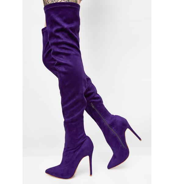 Got That Purp Over The Knee Boots