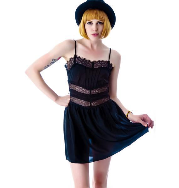 Lip Service Chiffon Lace Short Dress