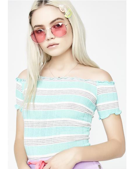 Mint Condition Stripe Top