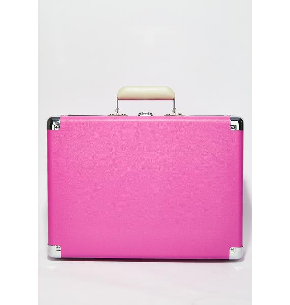 Crosley Fuschia Cruiser Deluxe Record Player