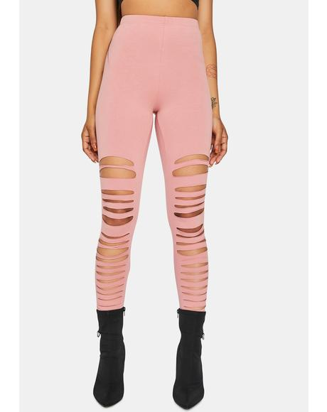 Blush Always On My Mind Distressed Leggings